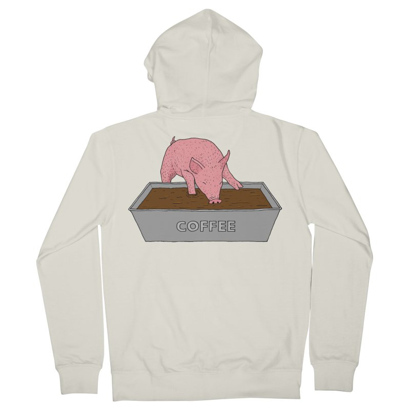 Coffee Pig Women's French Terry Zip-Up Hoody by Martina Scott's Shop