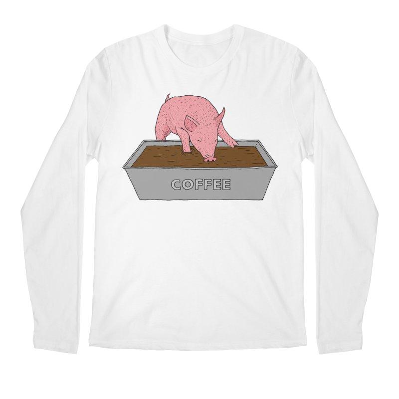 Coffee Pig Men's Regular Longsleeve T-Shirt by Martina Scott's Shop