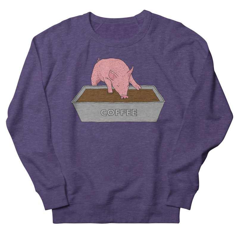 Coffee Pig Women's French Terry Sweatshirt by Martina Scott's Shop