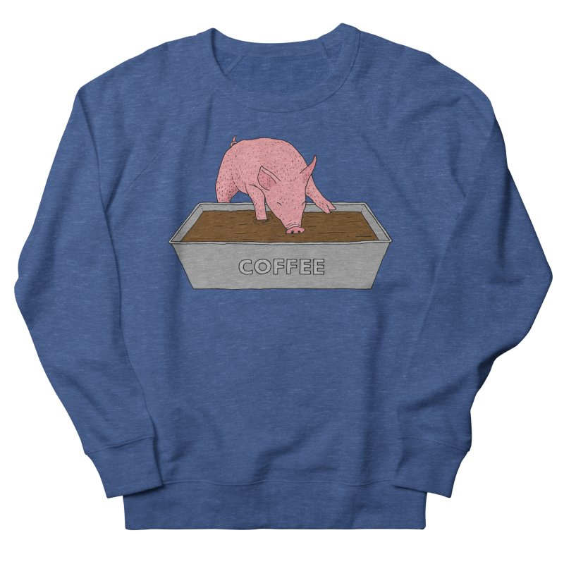 Coffee Pig Men's French Terry Sweatshirt by Martina Scott's Shop