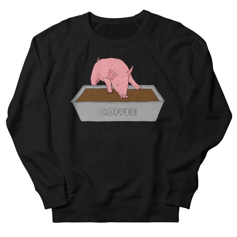 Coffee Pig Men's French Terry Sweatshirt by Martina Scott's Shop