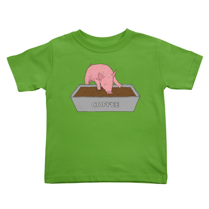 Coffee Pig Kids Toddler T-Shirt by Martina Scott's Shop