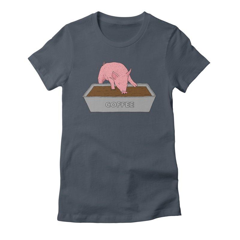 Coffee Pig Women's T-Shirt by Martina Scott's Shop