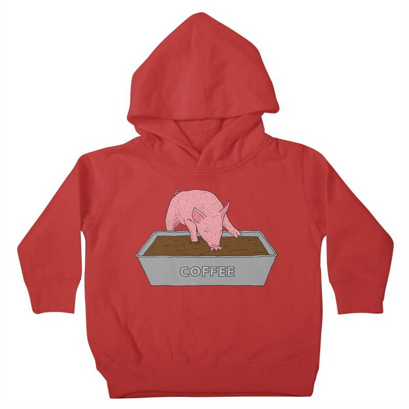 Coffee Pig Kids Toddler Pullover Hoody by Martina Scott's Shop
