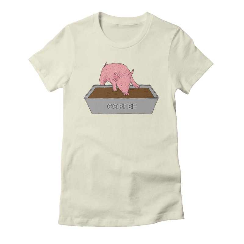 Coffee Pig Women's Fitted T-Shirt by Martina Scott's Shop