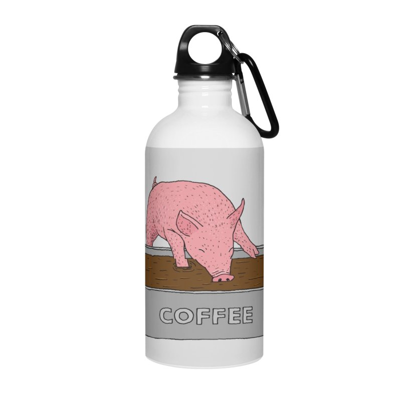 Coffee Pig Accessories Water Bottle by Martina Scott's Shop