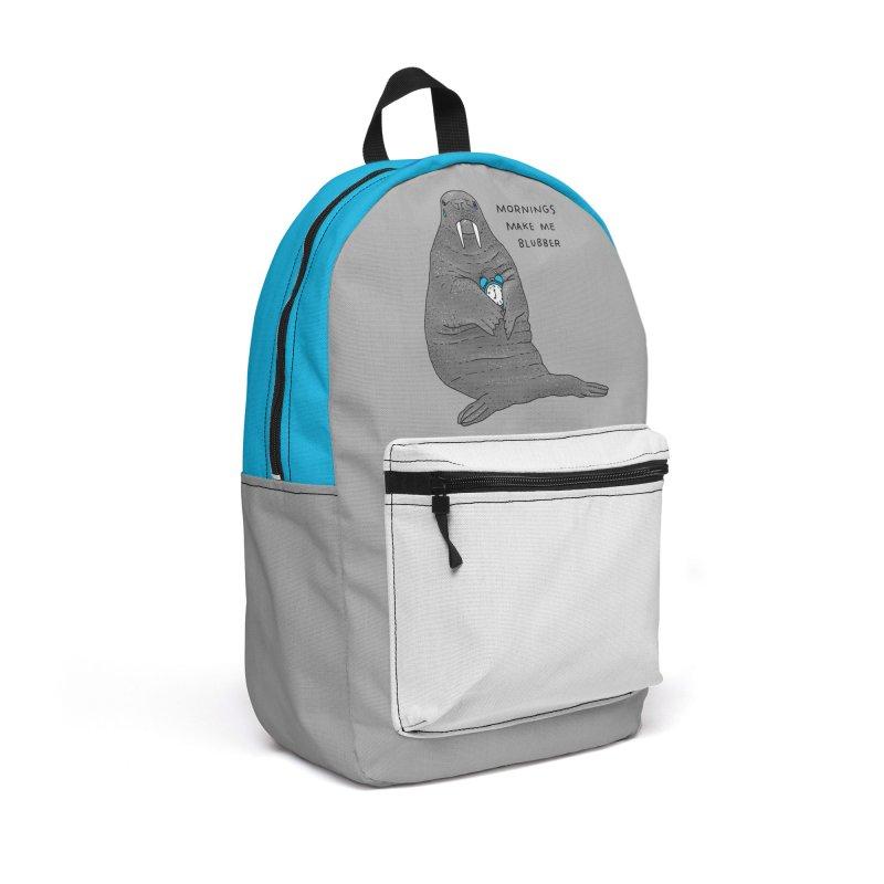 Sad Sleepy Walrus Accessories Backpack Bag by Martina Scott's Shop
