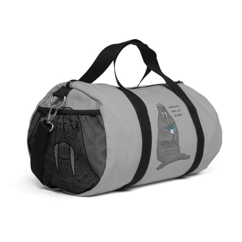 Sad Sleepy Walrus Accessories Bag by Martina Scott's Shop