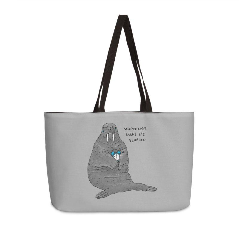 Sad Sleepy Walrus Accessories Weekender Bag Bag by Martina Scott's Shop