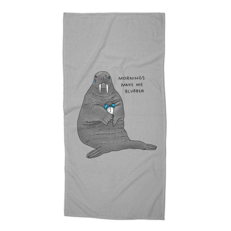 Sad Sleepy Walrus Accessories Beach Towel by Martina Scott's Shop