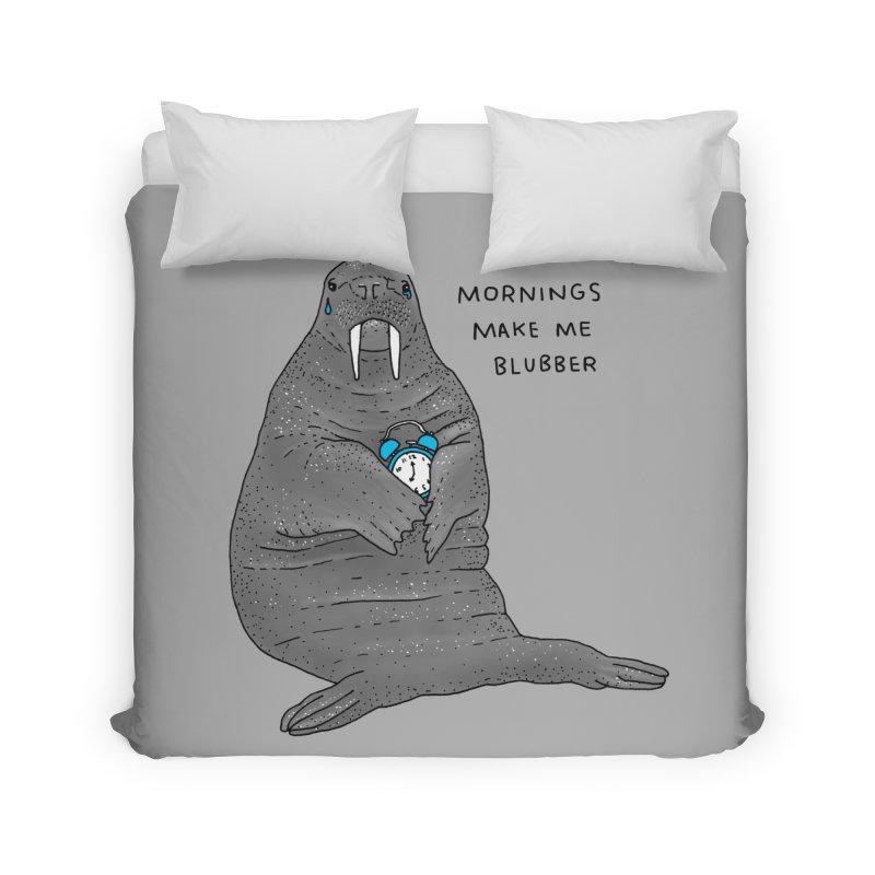 Sad Sleepy Walrus Home Duvet by Martina Scott's Shop