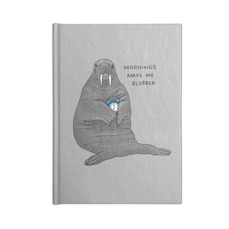 Sad Sleepy Walrus Accessories Blank Journal Notebook by Martina Scott's Shop