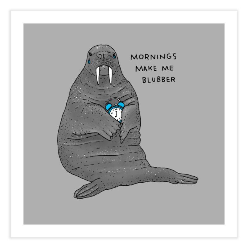 Sad Sleepy Walrus Home Fine Art Print by Martina Scott's Shop