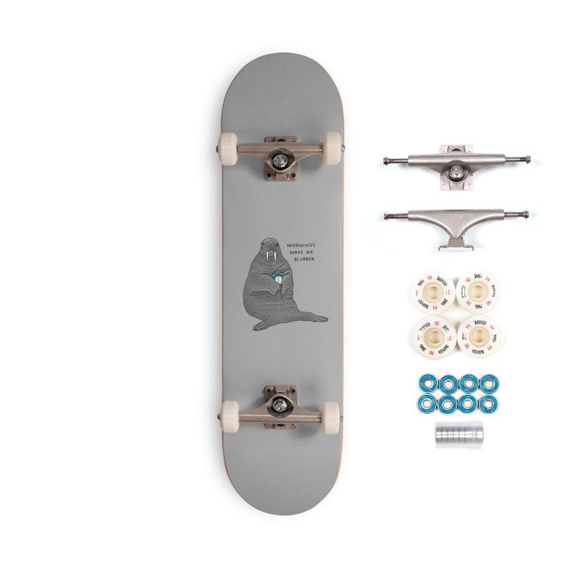 Sad Sleepy Walrus Accessories Complete - Premium Skateboard by Martina Scott's Shop