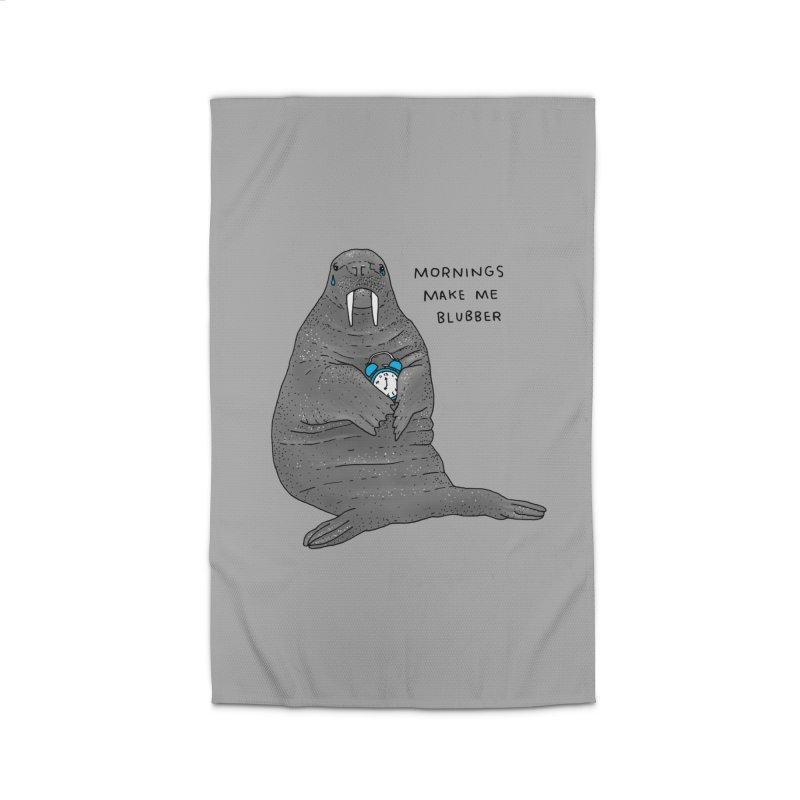 Sad Sleepy Walrus Home Rug by Martina Scott's Shop