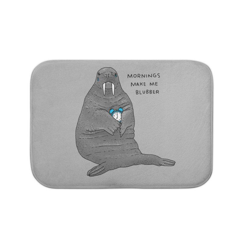 Sad Sleepy Walrus Home Bath Mat by Martina Scott's Shop