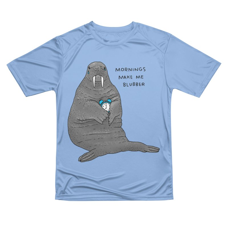 Sad Sleepy Walrus Men's T-Shirt by Martina Scott's Shop
