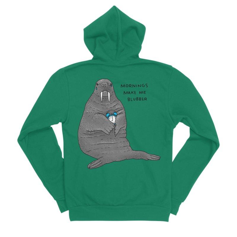 Sad Sleepy Walrus Men's Sponge Fleece Zip-Up Hoody by Martina Scott's Shop