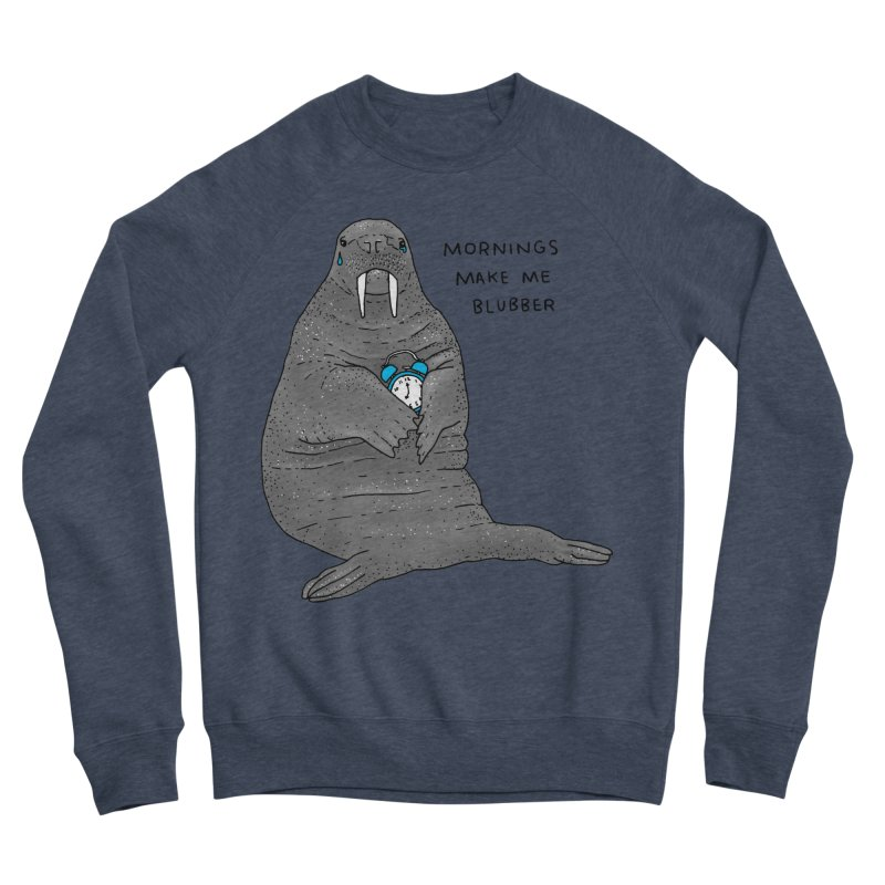 Sad Sleepy Walrus Men's Sponge Fleece Sweatshirt by Martina Scott's Shop