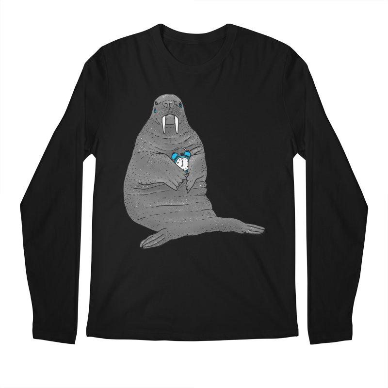 Sad Sleepy Walrus Men's Regular Longsleeve T-Shirt by Martina Scott's Shop