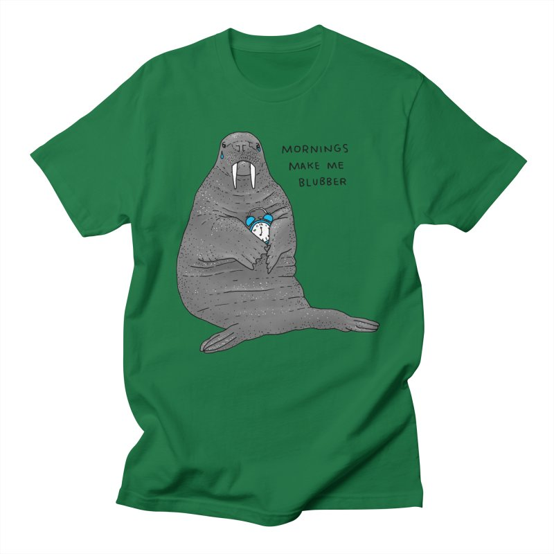 Sad Sleepy Walrus Men's Regular T-Shirt by Martina Scott's Shop