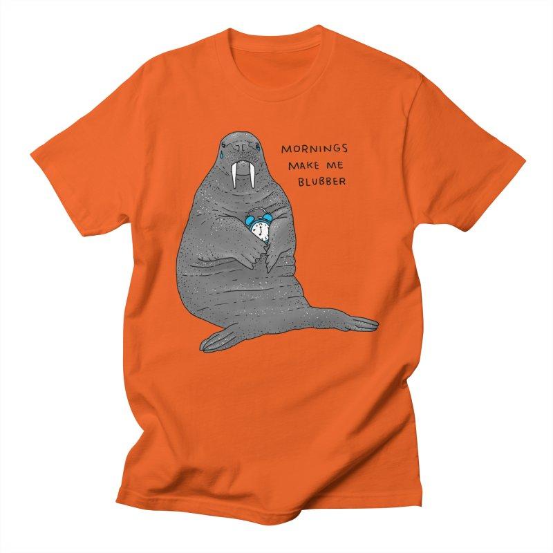 Sad Sleepy Walrus Women's Regular Unisex T-Shirt by Martina Scott's Shop