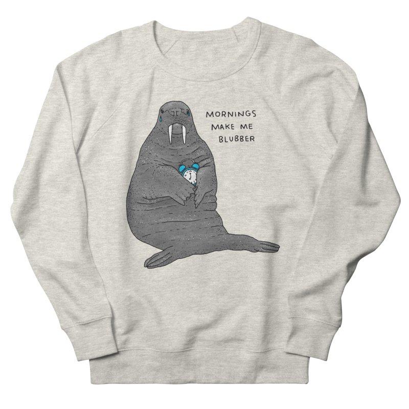 Sad Sleepy Walrus Men's French Terry Sweatshirt by Martina Scott's Shop