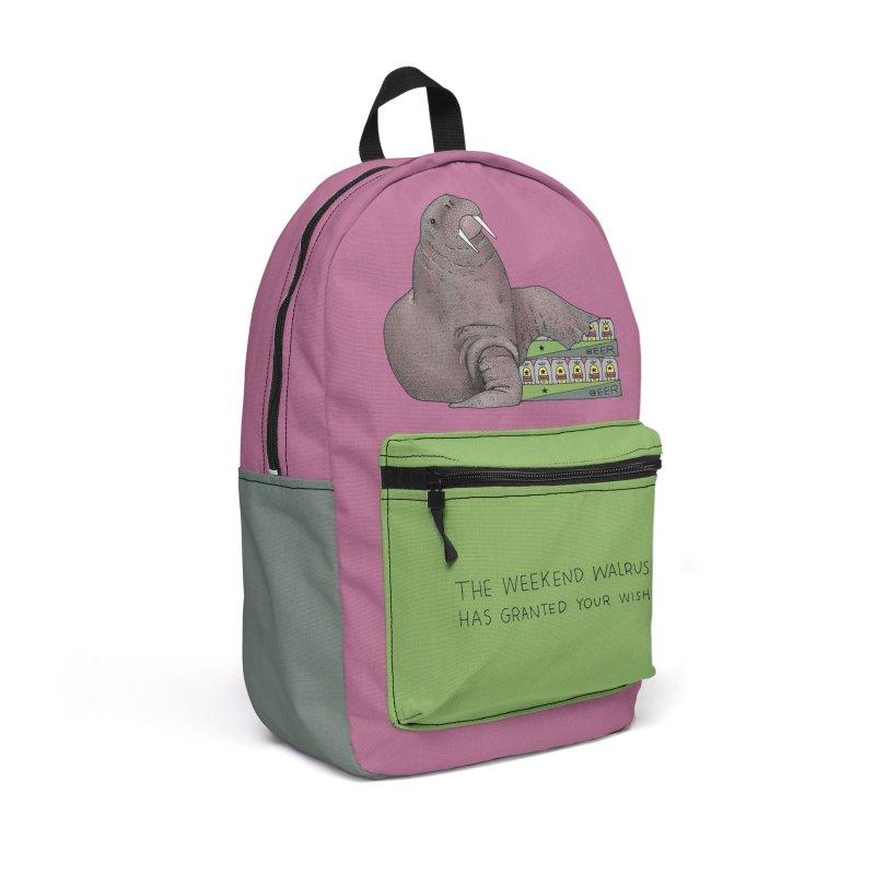 Weekend Walrus Accessories Backpack Bag by Martina Scott's Shop