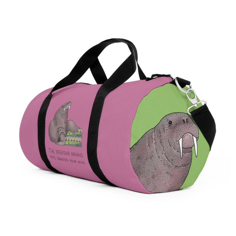 Weekend Walrus Accessories Duffel Bag Bag by Martina Scott's Shop