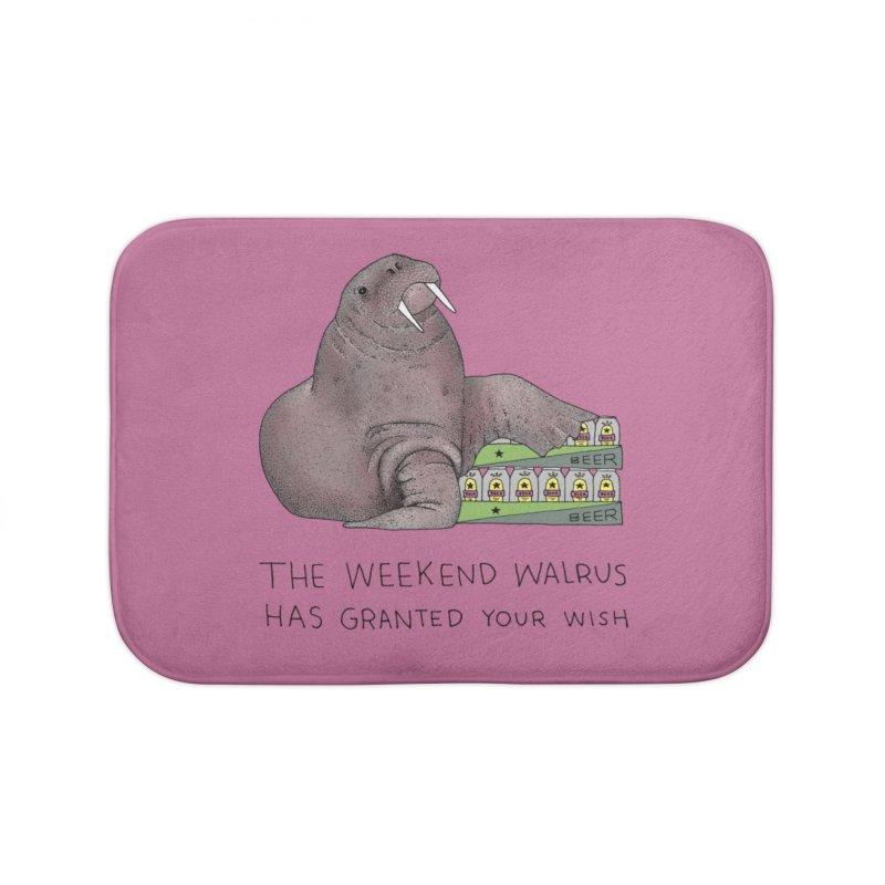 Weekend Walrus Home Bath Mat by Martina Scott's Shop