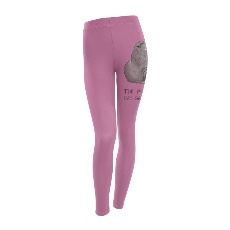 Weekend Walrus Women's Leggings Bottoms by Martina Scott's Shop
