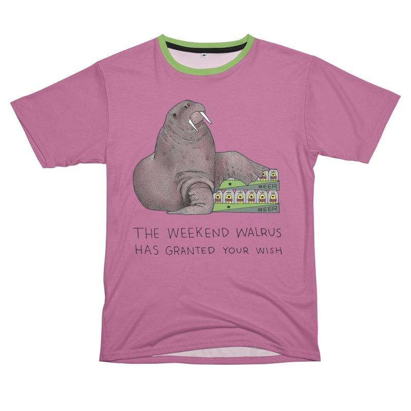 Weekend Walrus Women's Unisex T-Shirt Cut & Sew by Martina Scott's Shop