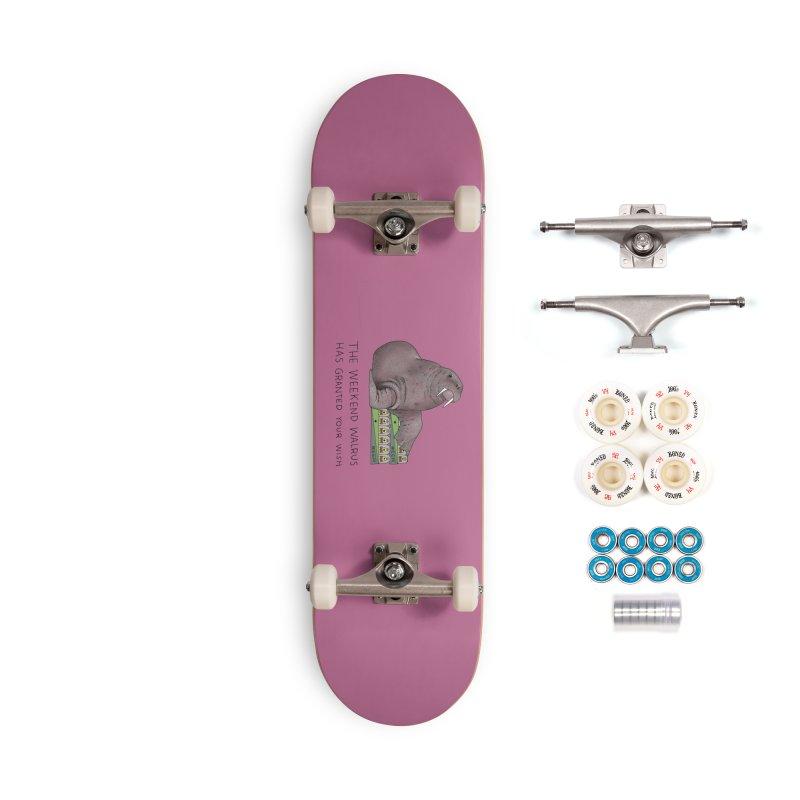 Weekend Walrus Accessories Skateboard by Martina Scott's Shop