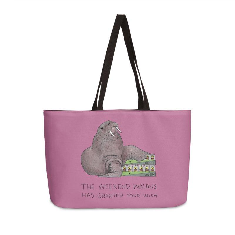 Weekend Walrus Accessories Weekender Bag Bag by Martina Scott's Shop