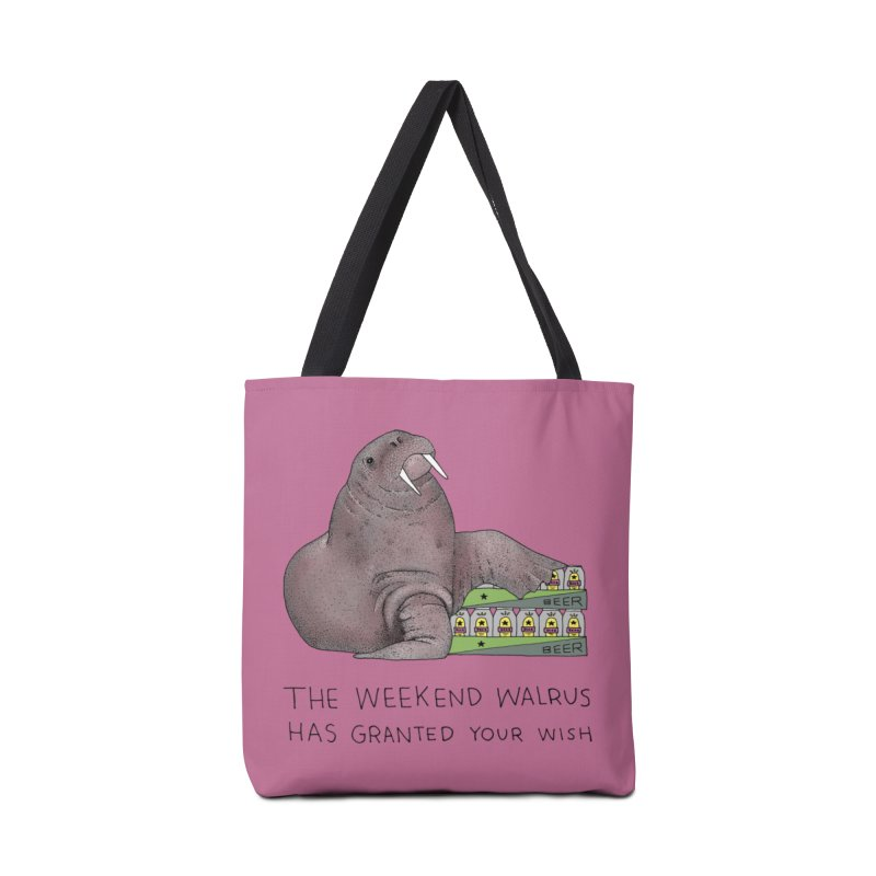 Weekend Walrus Accessories Tote Bag Bag by Martina Scott's Shop