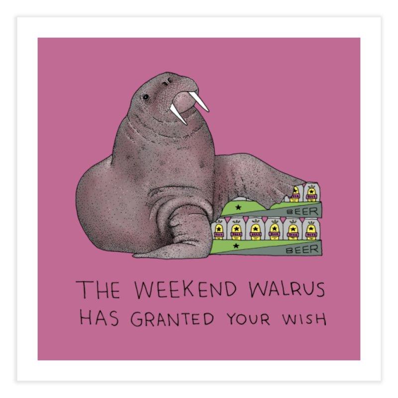 Weekend Walrus Home Fine Art Print by Martina Scott's Shop