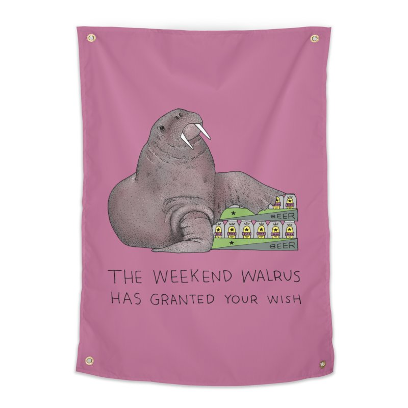 Weekend Walrus Home Tapestry by Martina Scott's Shop