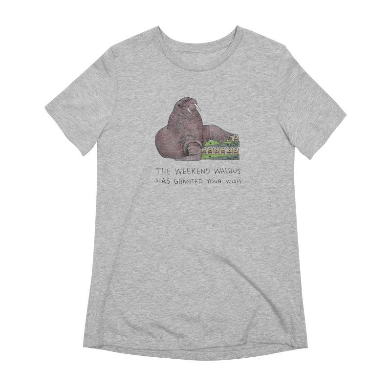 Weekend Walrus Women's Extra Soft T-Shirt by Martina Scott's Shop