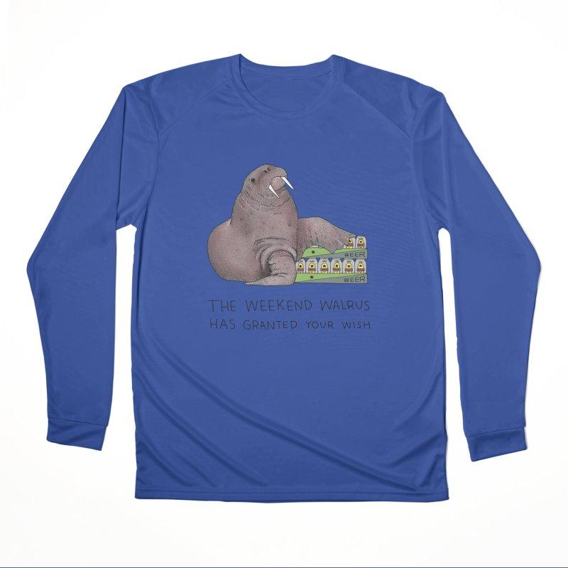 Weekend Walrus Men's Performance Longsleeve T-Shirt by Martina Scott's Shop