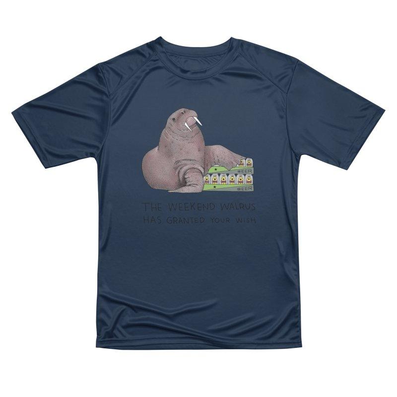 Weekend Walrus Men's Performance T-Shirt by Martina Scott's Shop
