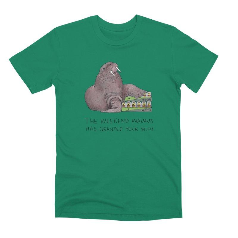 Weekend Walrus Men's Premium T-Shirt by Martina Scott's Shop
