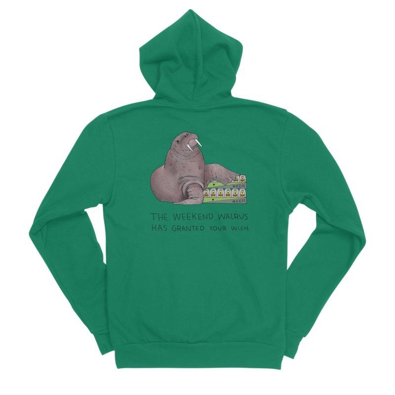 Weekend Walrus Women's Sponge Fleece Zip-Up Hoody by Martina Scott's Shop