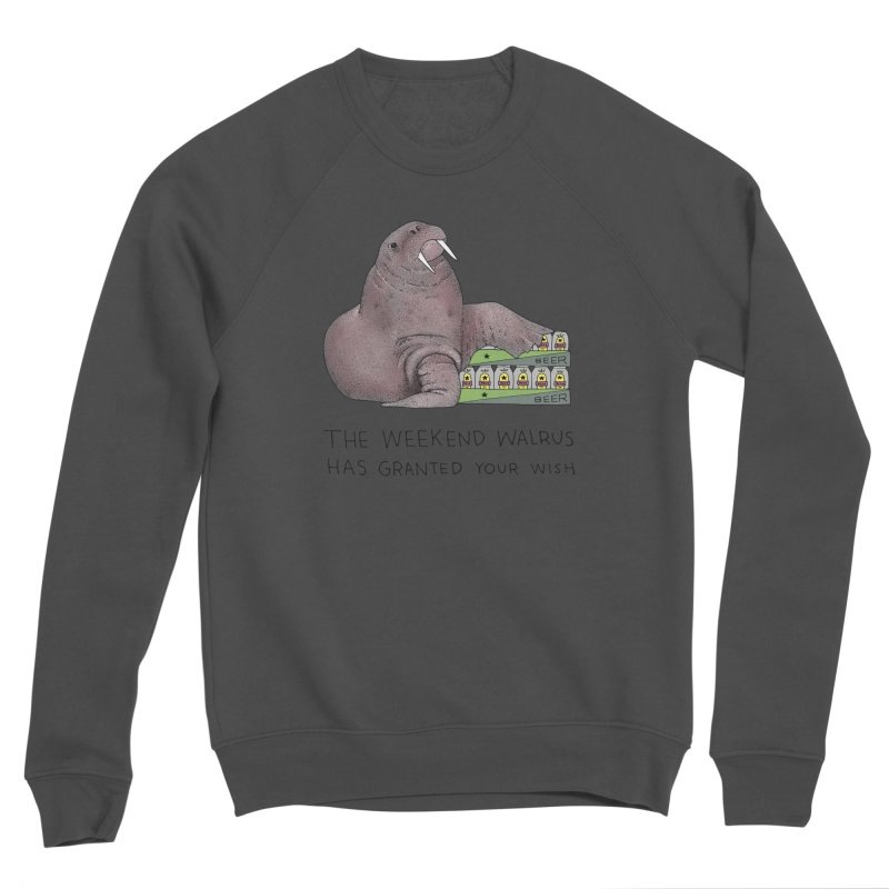 Weekend Walrus Men's Sponge Fleece Sweatshirt by Martina Scott's Shop