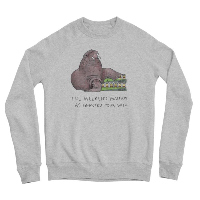 Weekend Walrus Women's Sponge Fleece Sweatshirt by Martina Scott's Shop