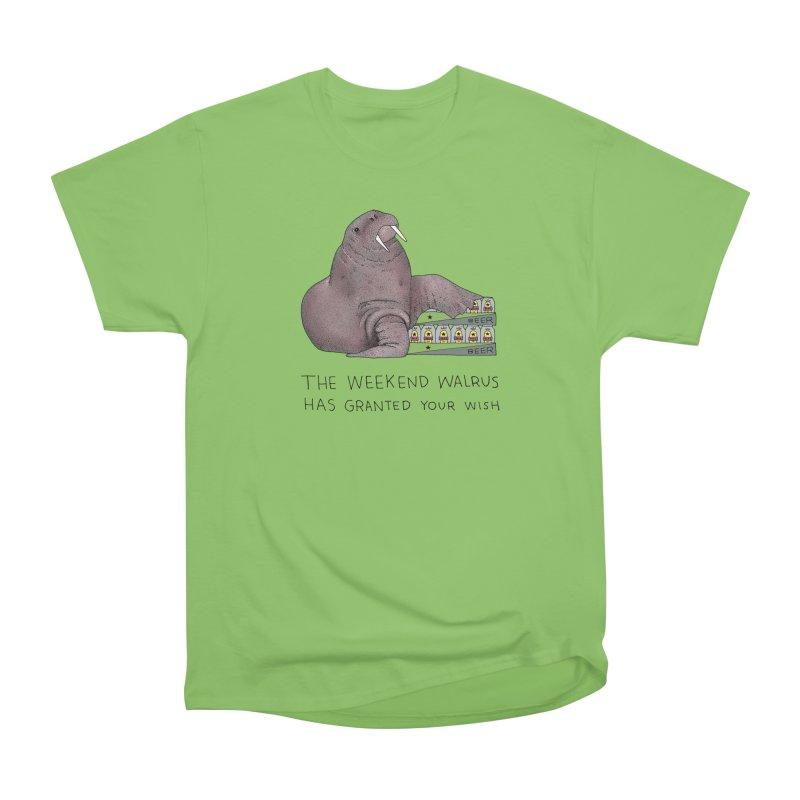 Weekend Walrus Women's Heavyweight Unisex T-Shirt by Martina Scott's Shop
