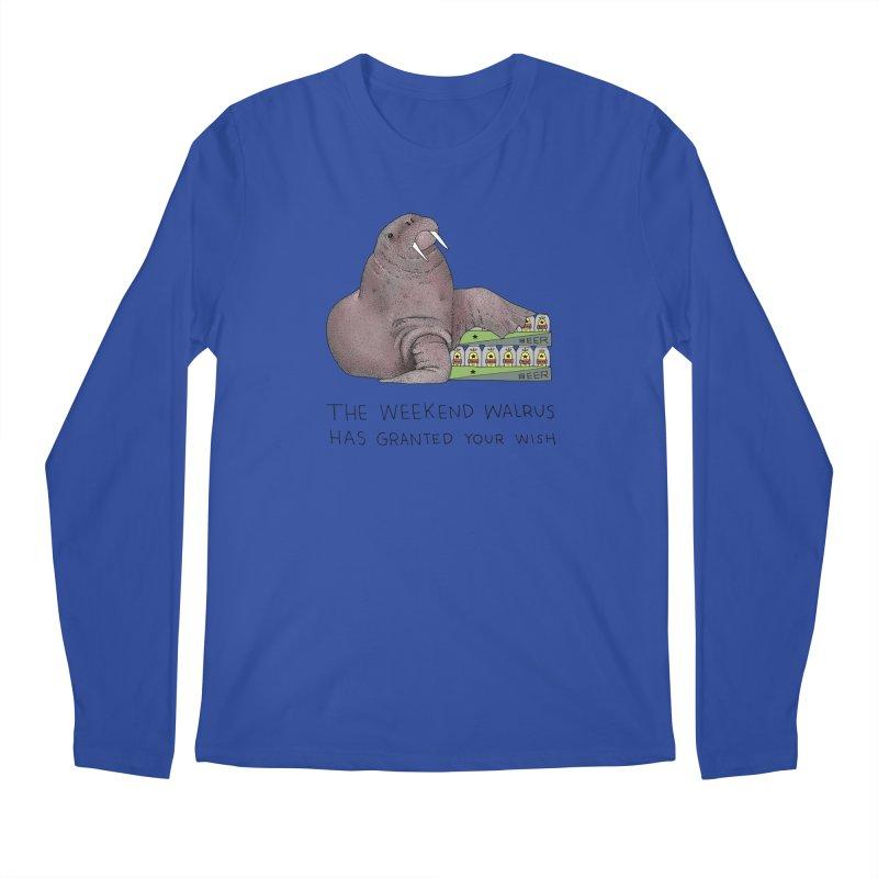 Weekend Walrus Men's Regular Longsleeve T-Shirt by Martina Scott's Shop