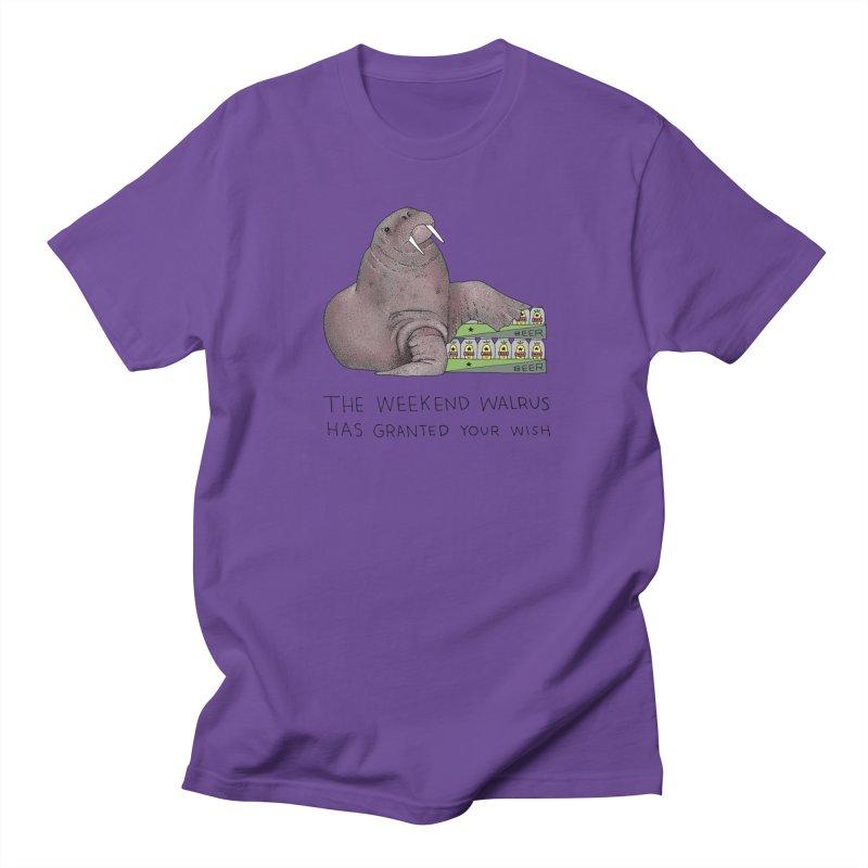Weekend Walrus Women's Regular Unisex T-Shirt by Martina Scott's Shop