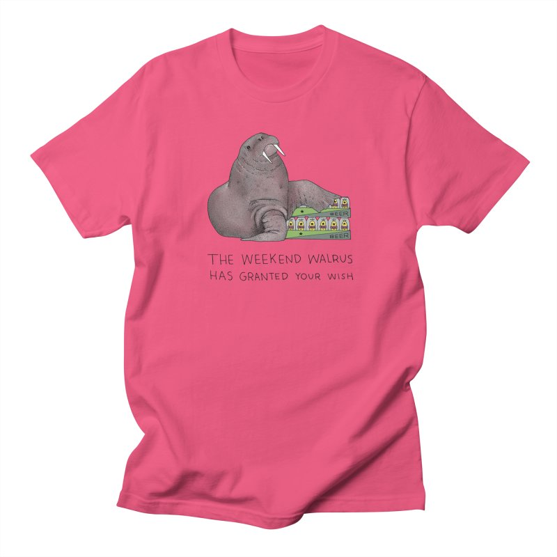 Weekend Walrus Men's Regular T-Shirt by Martina Scott's Shop