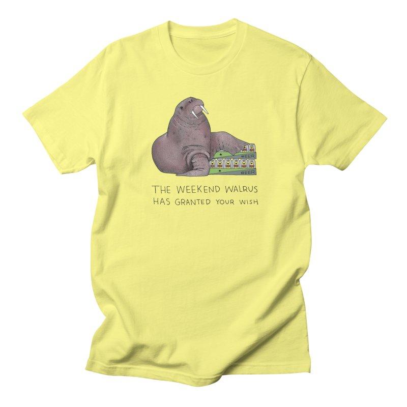 Weekend Walrus Men's Regular T-Shirt by Martina Scott's Shop