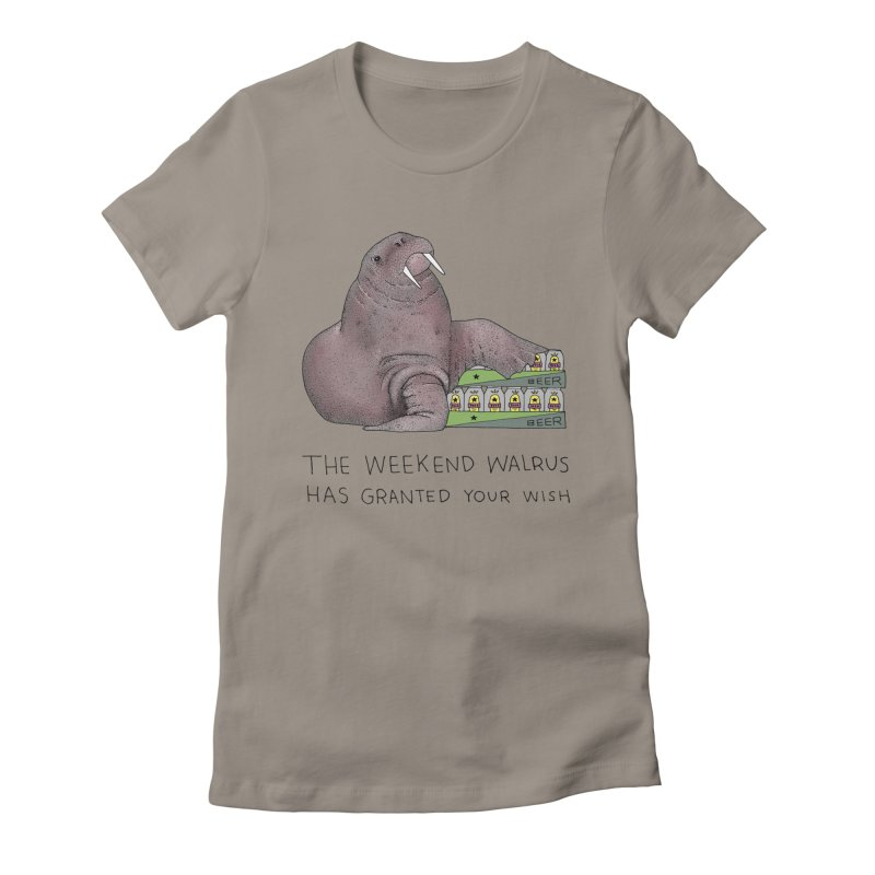 Weekend Walrus Women's Fitted T-Shirt by Martina Scott's Shop